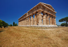 Temple of Poseidon, Paestum, Italy. This picture shows the temple of Poseidon in Paestum, Italy Royalty Free Stock Photography