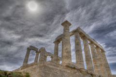 Temple of poseidon in Sounio Royalty Free Stock Photos
