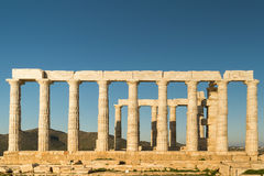 Temple of Poseidon in Sounio in Greece. Royalty Free Stock Photography
