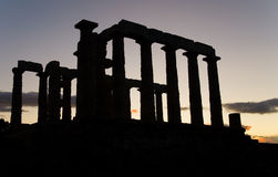Temple of Poseidon on Sounion cape Royalty Free Stock Images