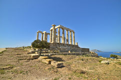 Temple of Poseidon Sounion Greece royalty free stock image
