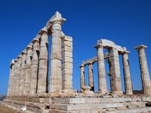 Temple of Poseidon, Sounion, Greece Stock Photos