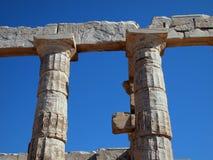 Temple of Poseidon, Sounion Stock Photos