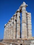 Temple of Poseidon, Sounion Stock Photo