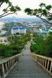 Temple mountain Prajuabkerekan in thailand. Temple Prajuabkerekan landscape in thailand Stock Images