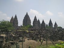 Temple of Prambanan. A view from distant of Prambanan Temple in Sleman, Yogyakarta, Indonesia Stock Photo