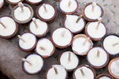 Temple Prayer Offering Candles, Nepal Stock Photography