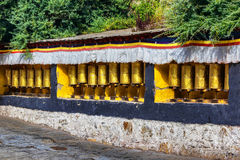 Temple prayer wheel. This is China famous temples in Tibet Drepung prayer wheel Royalty Free Stock Photos