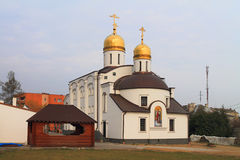 The temple of the Prelate Tikhon, Patriarch of Moscow in the city of Polessk Royalty Free Stock Photography