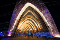 The Temple of Promise During the Night at Burning Man 2015 Stock Image