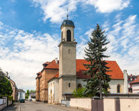 Temple Protestant in Neuf-Brisach, Alsace, France Royalty Free Stock Photos