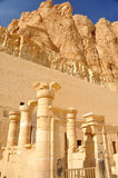 Temple of Queen Hatshepsut. The inner sanctuary of the early new kingdom mortuary temple of Queen Hatshepsut with mountains in the background at Thebes in Egypt Royalty Free Stock Photography