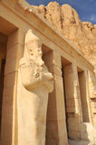 Temple of Queen Hatshepsut. Giant statue of Queen Hatshepsut at Thebes in Egypt Royalty Free Stock Photos