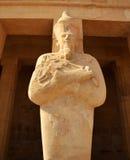 Temple of Queen Hatshepsut. Giant Statue  of Queen Hatshepsut at Thebes in Egypt Stock Images