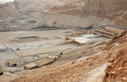 Temple of Queen Hatshepsut. The early middle new mortuary temple of Queen Hatshepsut at Thebes in Egypt Royalty Free Stock Images