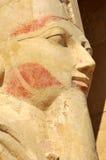 Temple of Queen Hatshepsut. Detail of statue of  Queen Hatshepsut at Thebes in Egypt Stock Photo