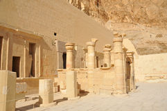 Temple of Queen Hatshepsut. The inner sanctuary and final courtyard of the early new kingdom mortuary temple of Queen Hatshepsut at Thebes in Egypt Stock Photos