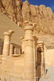 Temple of Queen Hatshepsut. The inner sanctuary of the early new kingdom mortuary temple of Queen Hatshepsut at Thebes in Egypt in very fine sandstone, with Royalty Free Stock Image