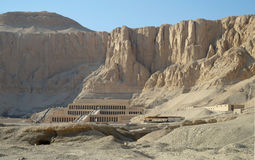 The temple of Queen Hatshepsut in Luxor, Royalty Free Stock Images