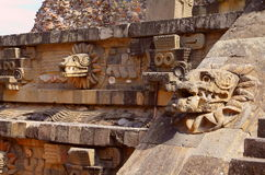Temple of quetzalcoatl III, teotihuacan Stock Photo