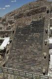 Temple of Quetzalcoatl Mexico Stock Photo
