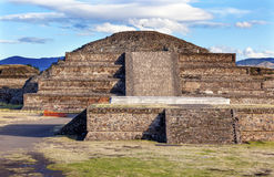 Temple Quetzalcoatl Pyramid Teotihuacan Mexico City Mexico Royalty Free Stock Photo