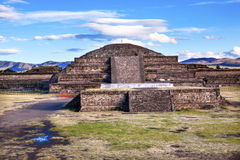Temple of Quetzalcoatl Pyramid Teotihuacan Mexico City Mexico Royalty Free Stock Photos