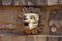 Temple of quetzalcoatl V, teotihuacan Royalty Free Stock Photo