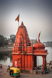 Temple on of Raj Ghat, Ujjain.  Royalty Free Stock Photos