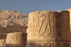 Temple of Rameses III Stock Photos