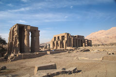 Temple of Ramesses II. Ruins of Temple of Ramesses II. 13th century BC. Luxor,Egypt Royalty Free Stock Photo