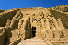 The Temple of Ramesses II at Abu Simbel Stock Photo