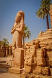 The temple of Ramses III is an important structure of the New Kingdom period in the West Bank of Luxor in Egypt. The temple of Ramses III is an important royalty free stock images