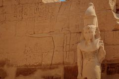 The temple of Ramses III is an important structure of the New Kingdom period in the West Bank of Luxor in Egypt. The temple of Ramses III is an important royalty free stock image