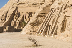 Temple of Ramses and Temple of Nefertari, Abu Simbel, Egypt Stock Photos