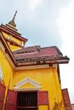 Temple rebuilt. Stock Photos