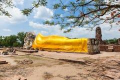 Temple of the Reclining Buddha, Ayutthaya, Thailand. Ruins of temple of the Reclining Buddha (Wat Lokayasutharam), Ayutthaya, Thailand stock photos