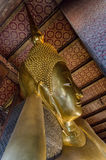 Temple of the Reclining Buddha in Bangkok, Thailand Stock Photography