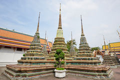 Temple of the Reclining Buddha in Bangkok Royalty Free Stock Image