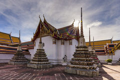 Temple of Reclining Buddha, Wat Pho, Bangkok Stock Photos