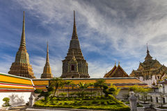 Temple of Reclining Buddha, Wat Pho, Bangkok, Royalty Free Stock Photography