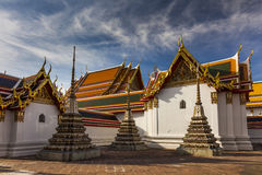Temple of Reclining Buddha, Wat Pho, Bangkok, Royalty Free Stock Photos