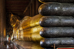 Temple of the Reclining Buddha (Wat Pho), Landmark and No. 1 tourist attractions in Thailand. Royalty Free Stock Photo