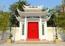 Temple Red Door. Stock Photo