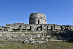 Temple Redondo. This is a picture of the Temple Redondo or Round Temple, it was used a an Observatory by the Mayans.  It was not of religious significance but Royalty Free Stock Image