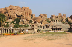 Temple remains around Hampi Stock Photography