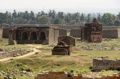 Temple remains around Hampi Stock Photos