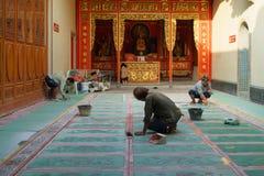 Temple restauration Stock Photo
