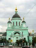 Temple of reverend St. Sergius of Radonezh in the Rogozhskaya Sloboda, Moscow, Russia. Temple of reverend St. Sergius of Radonezh is situated in Nikoloyamskaya Stock Image