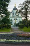 Temple of reverend St. Sergius of Radonezh in the Rogozhskaya Sloboda, Moscow, Russia. Temple of reverend St. Sergius of Radonezh is situated in Nikoloyamskaya Royalty Free Stock Image